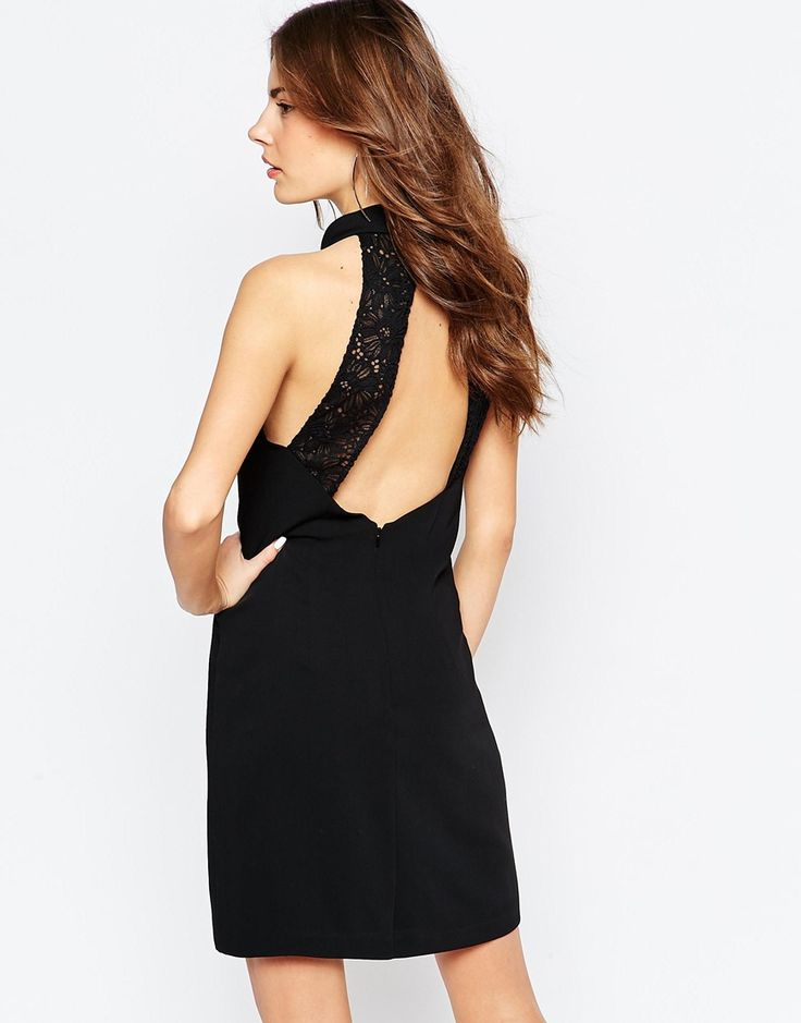Reiss+Venice+Shift+Dress+with+Open+Lace+Back
