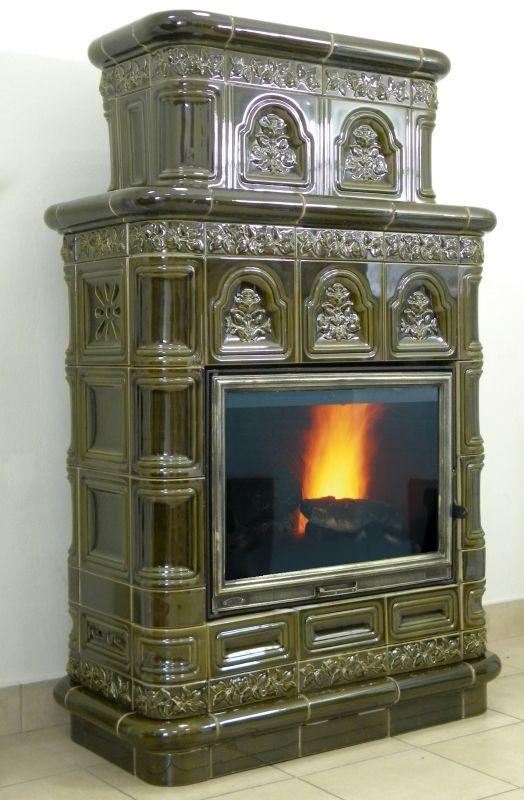 klasyczny piec kominek kaflowy t69