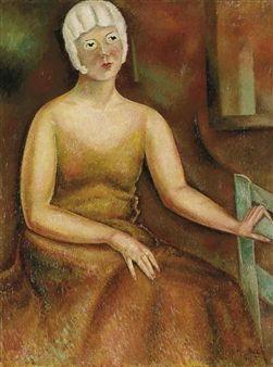 Jeune femme à la perruque blanche By Alice Bailly ,1932