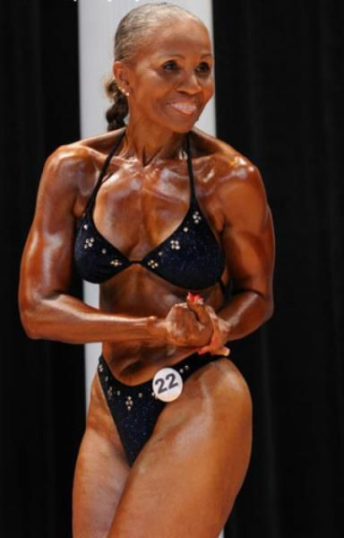 Ernestine Shepherd is 77 years old and a bodybuilder who has won numerous competitions!  She only started body building at 52.  What an inspiration!!