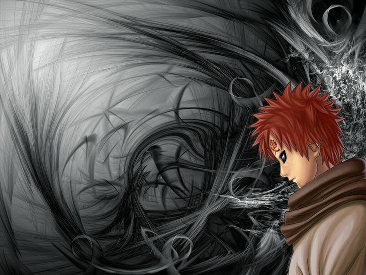 sasuke wallpaper: Gaara Wallpaper | Black background wallpaper, Abstract, Black abstract