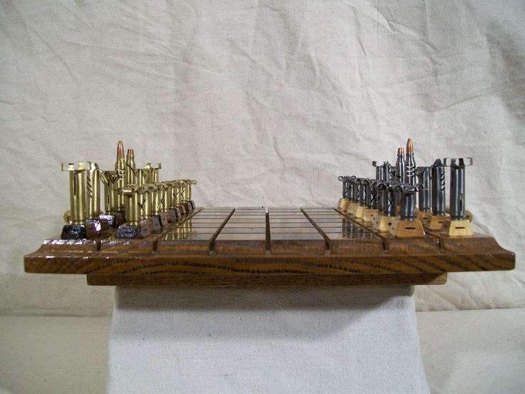 Bullet Chess Set - Caliber .223   Great Gift Idea for the gun lover...