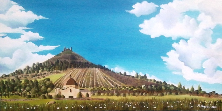 """Spring in Las Plassas""  oil on canvas panel 30 x 60 cm"