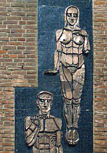 Johan van Hell - tegeltableau 'De vruchtbaarheid van de arbeid' (1931)