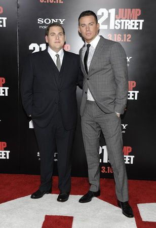 """Co-stars Jonah Hill and Channing Tatum teamed up Tuesday at Graumans Chinese Theatre for the Los Angeles premiere of """"21 Jump Street."""" The film, loosely based on the TV show about an undercover unit that infiltrates a high school, is set for national release Friday."""