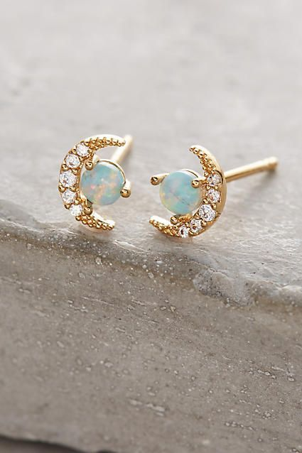 Opal Crescent Earrings - anthropologie.com