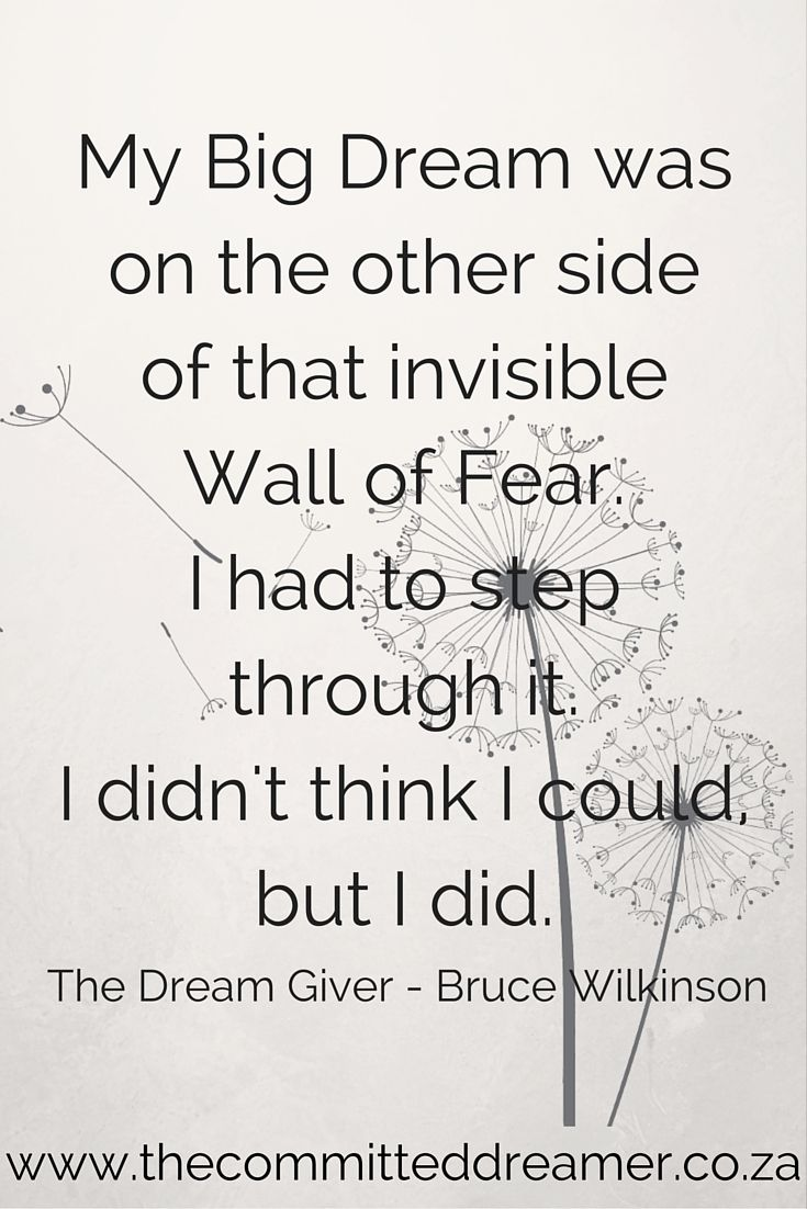 Don't allow doubts and fears to prevent you from pursuing your dreams. Break through that wall of fear and get committed to your dream. www.thecommitteddreamer.co.za
