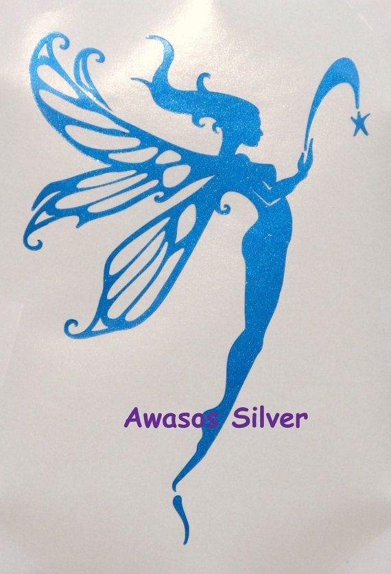 Fabulous Fairy Decal in Metallic Electric Blue by NEWD on Etsy, $9.50