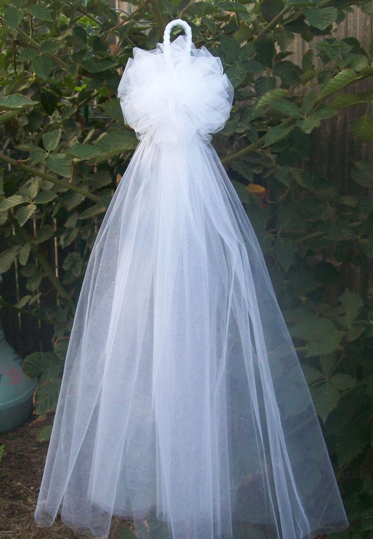 Tulle pew bows quinceanera church pew decor white pew bows ivory - Bow decorations for weddings ...