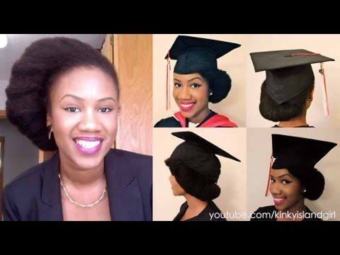 The Perfect Graduation Cap Style for Natural Hair!