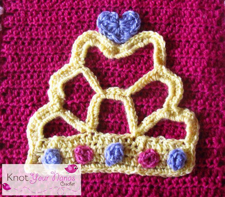 Crochet Tiara Applique