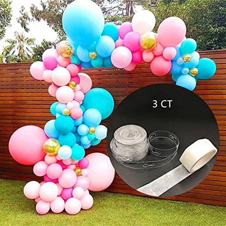how to make a balloon arch with strip