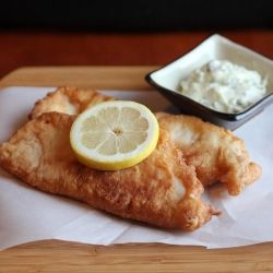 Beer Battered Tilapia - Light and crispy on the outside, moist and flaky on the inside!