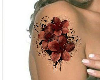 Temporäre Tattoo Flower wasserdicht extrem dünne von UnrealInkShop