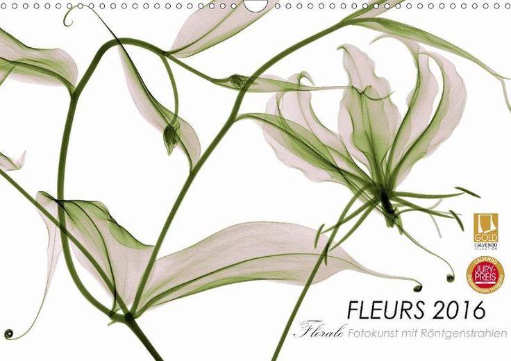 FLEURS 2016 - Florale Fotokunst mit Röntgenstrahlen - CALVENDO Kalender von Martin Strunk - #fotografie #calvendo #calvendogold #kalender #blumen #experimentell #fleurs