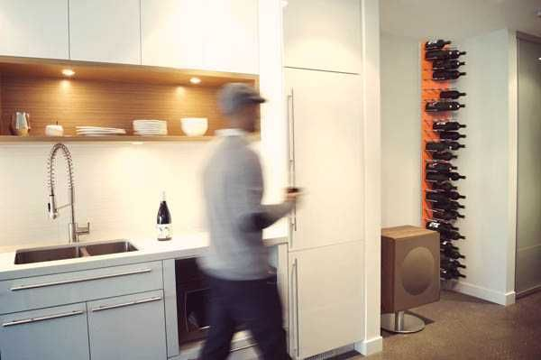 modular wall storage ideas - STACT Modular Wine Wall system via @Eveline Trachsel