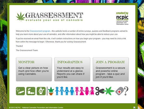 This website hosts a number of online surveys, quizzes and feedback programs aimed to help you learn more about your use of cannabis, and offer information about how you might be able to reduce your use. - See more at: http://grassessment.org.au/