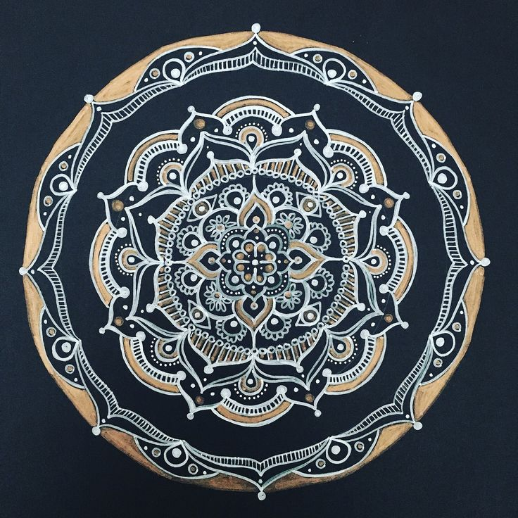 Mandala, Black And White, Zendala, Henna, Creativity