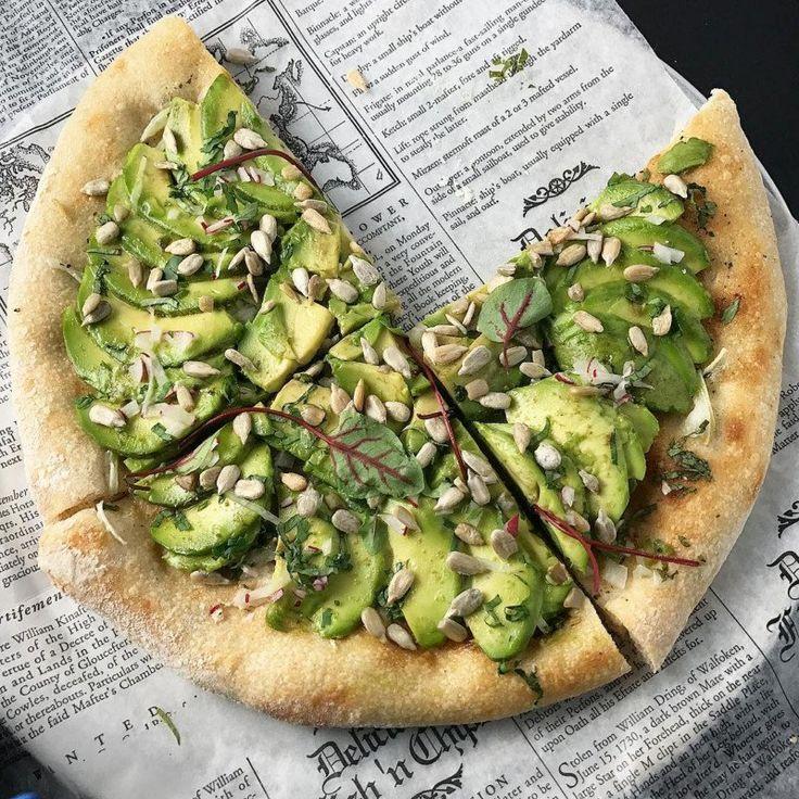 Авокадо-пицца