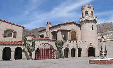 In the middle of Death Valley National Park, is Scotty's Castle. A 32,000-square-foot two-story Spanish Villa in Grapevine Canyon.