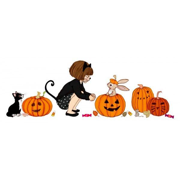 Belle & Boo's 'Decorate Me' Halloween Pumpkins Wall Sticker