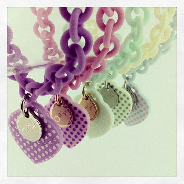 OPS! in pastel colours, perfect for toning down an evening outfit!