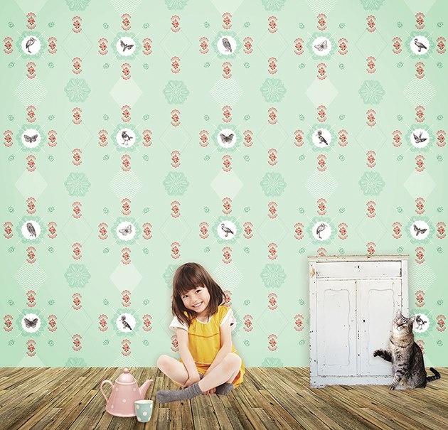 NEW #behang #wallpaper | Pimpelmees via Kinderkamerstylist.nl