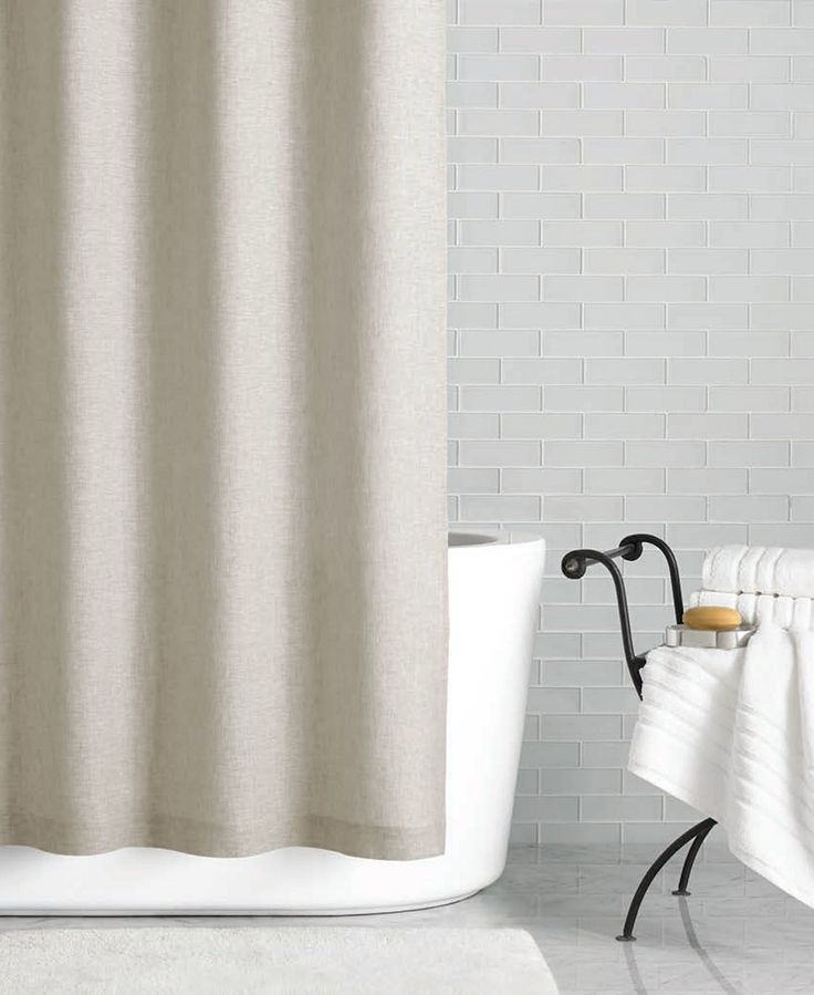 """Hotel Collection Linen 72"""" x 84"""" Extra Long Shower Curtain, Only at Macy's - Shower Curtains - Bed & Bath - Macy's"""