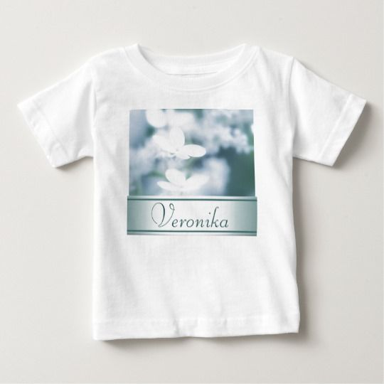 Beautiful white hydrangea blossoms. Add name. Baby T-Shirt customized, personalized, photo, photography, zazzle, sale, discount, shopping, buy, deals, gifts, gift ideas, artwork, hydrangea, hortensia, nature, gentle, tender, summer, garden, flowerbed, flowers, two, pair, pretty, white, blossoms, macro, close up, beautiful, inflorescence, floral, design, girly, feminine, style, cyan, aquamarine #blossoms #flowers #white #baby #tshirt #name #text