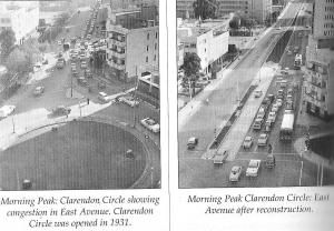 Clarendon Circle before and after