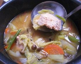 ☆鮭の味噌鍋☆~石狩鍋~