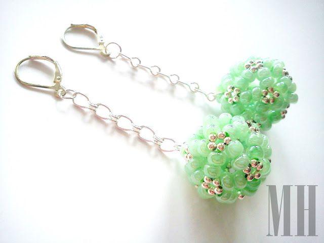 Miętusek - kolczyki do bransoletki | MH Biżuteria - cuda ręcznie wykonane