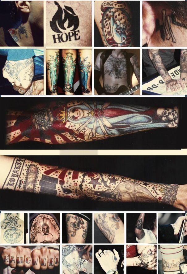 My Chemical Romance ~ Frank Ieros tattoos