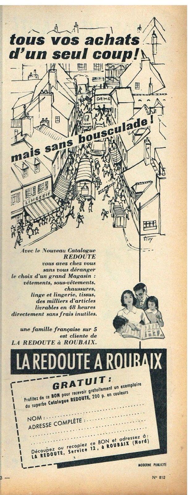 Publicité Advertising 1960 LA Redoute À Roubaix | eBay