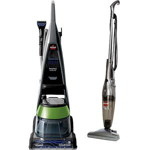 bissell deepclean premier pet upright deep cleaner with your choice of bonus stick vac