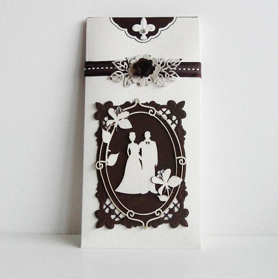 Summer Wedding Invitation  White Wedding Invitations  by LinaDeco