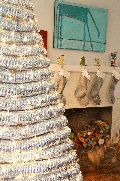 s 20 fake christmas trees you ll wish you d seen sooner, christmas decorations, repurposing upcycling, seasonal holiday decor, Dryer Vent Drama