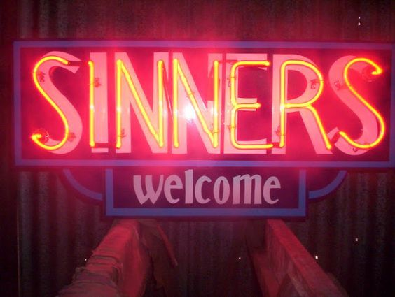 Neon Sign | Sinners Welcome