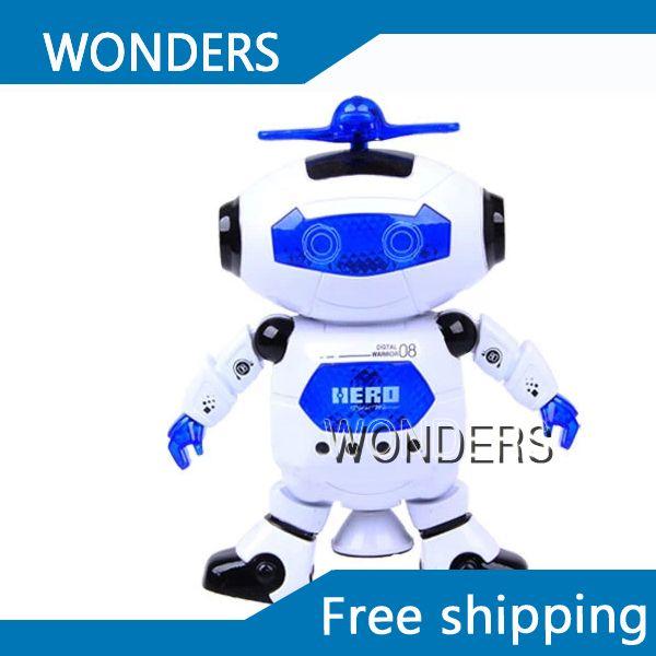 Танцевальная музыка робот игрушки мальчик подарок блеск 360 град. поворот