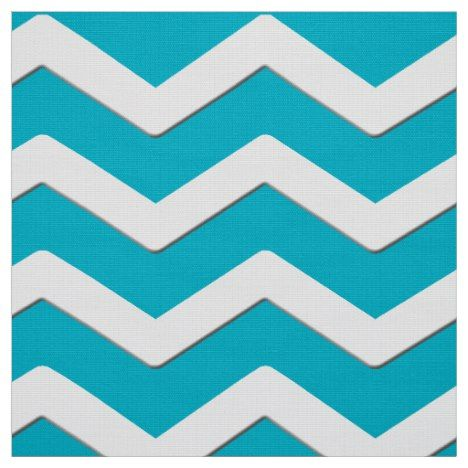 Turquoise and White Chevron Fabric or YOUR COLOR #chevron #craft #supplies