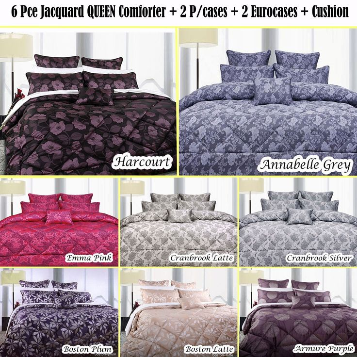 6 Piece Queen Size Comforter Set by Accessorize