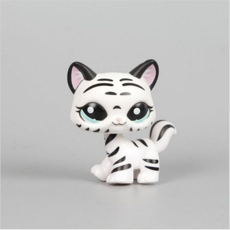 Black & White Striped Cat Collection Child Loose Cute Figure Toys LPS