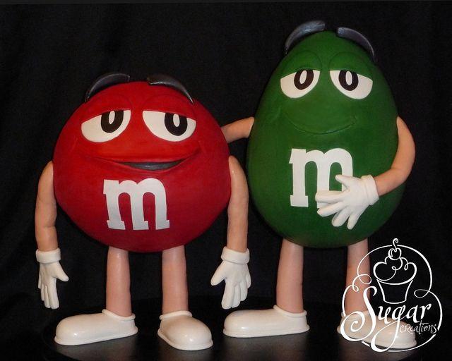 3D M men cake by RebeccaSutterby, via Flickr