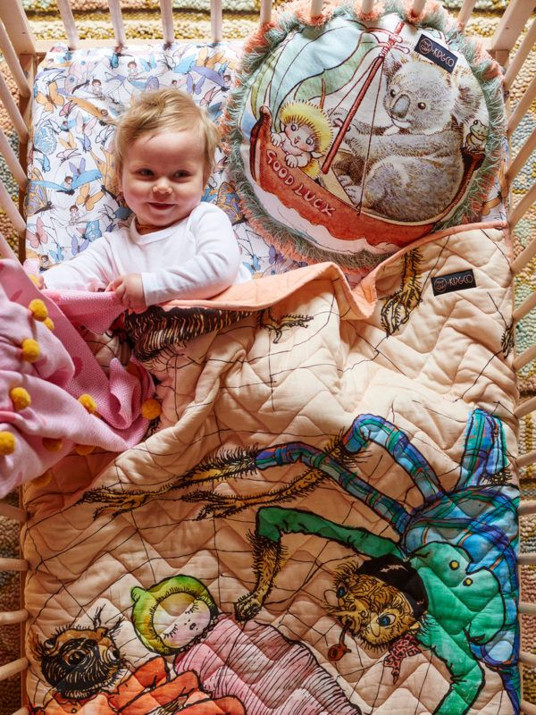 How adorable is this new collection of bedding from Kip & Co? The housewares label is celebrating the 100 year birthday of Australian children's author May Gibbs' iconic storybook characters in the form of pillows, quilts and sheets. I'm not familiar with May's books but I learned that shewas