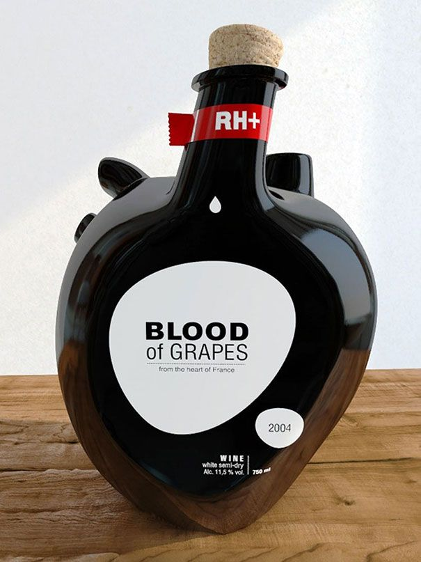 Blood of Grapes Wine Bottle. Designed by Constantin Bolimond.