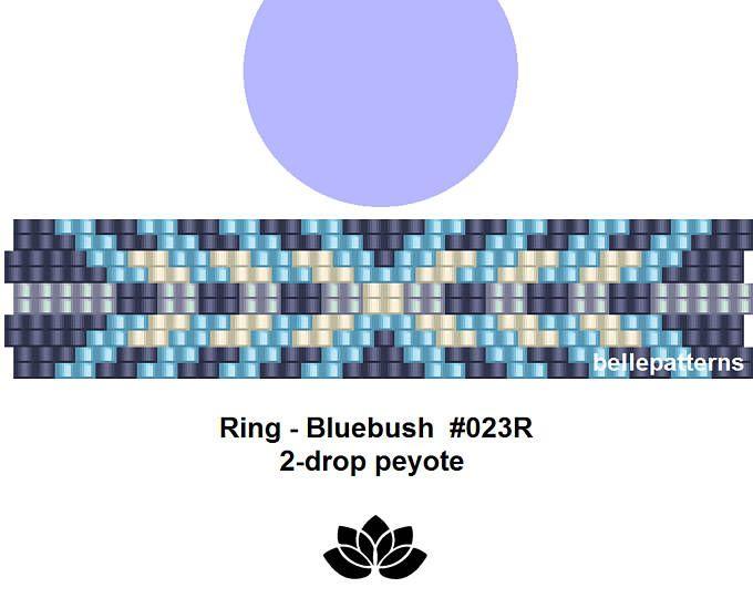 peyote ring pattern,PDF-Download, #023R-2d, 2 drop peyote, beading pattern, beading tutorials, ring pattern