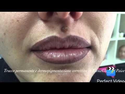 Trucco permanente labbra - YouTube