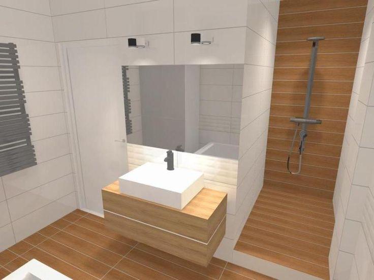 łazienka biel i drewno - Szukaj w Google