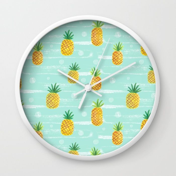 Pineapple Dots  Wall Clock
