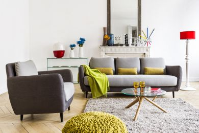 Ella 3 Sitzer Sofa Mit Stoffbezug